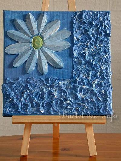 basteln zum sommer margarite in blau. Black Bedroom Furniture Sets. Home Design Ideas