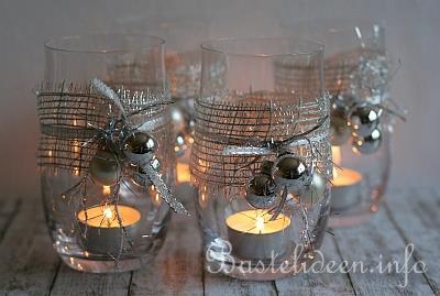 weihnachtsbasteln schnelle weihnachtliche teelichtgl ser. Black Bedroom Furniture Sets. Home Design Ideas