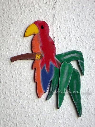 basteln sommer mit holz im papagei sommerfest