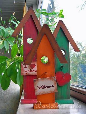 Basteln Mit Holz   Basteln Im Sommer   Vogelhäuser