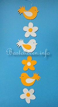 Kostenlose Bastelvorlage Vogel Und Blume