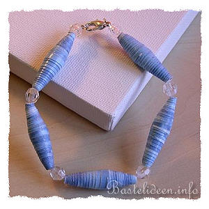 Sommerbasteln basteln mit kindern papier perlen armband - Perlenarmband basteln ...
