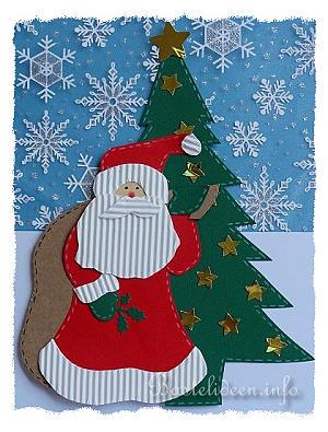 Basteln mit papier weihnachten nikolaus mit sack fensterbild - Weihnachtsbasteln vorlagen kostenlos ...