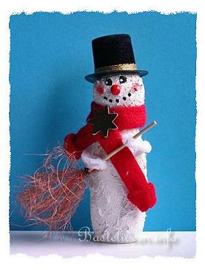 basteln mit kindern weihnachten weihnachtsbasteleien einen schneemann basteln. Black Bedroom Furniture Sets. Home Design Ideas