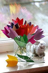 kostenlose bastelvorlage tulpen aus papier. Black Bedroom Furniture Sets. Home Design Ideas