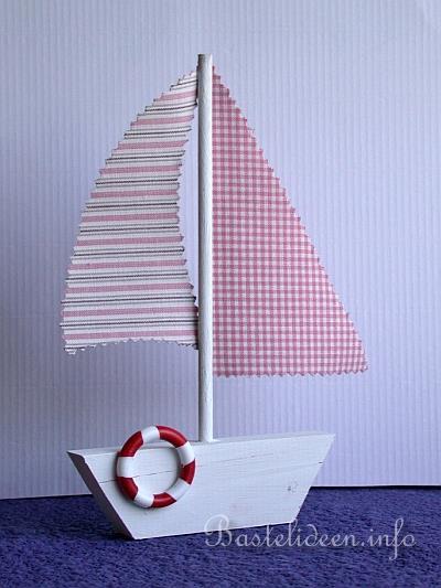 Boot bastelvorlage  Basteln mit Holz - Laubsägearbeit - Segelboot - Sommerbasteln