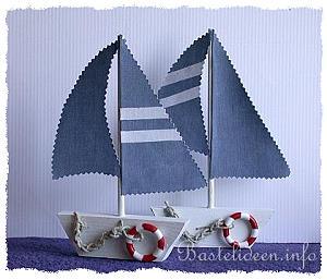 basteln mit holz - laubsägearbeit - segelboot - sommerbasteln, Moderne