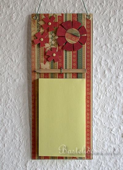 Basteln mit papier praktischer zetterhalter oder notizhalter - Locher in der wand stopfen ...