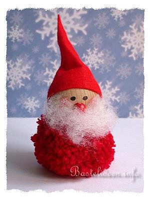basteln mit kindern zu weihnachten und im winter pompom nikolaus. Black Bedroom Furniture Sets. Home Design Ideas