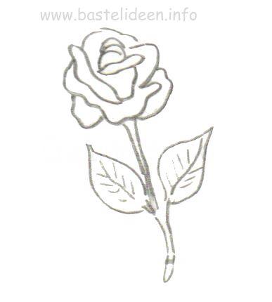 bastelvorlage rose. Black Bedroom Furniture Sets. Home Design Ideas