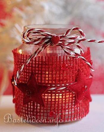 Weihnachtsbasteln recyclingbasteln konservenglas als for Durchsichtige klebefolie