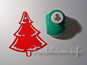 Weihnachtskarten basteln winterlandschaft karte - Weihnachtsbaum schablone ...