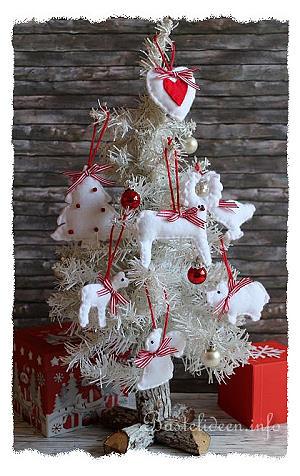 basteln und n hen zu weihnachten weihnachtsbaumanh nger aus filz. Black Bedroom Furniture Sets. Home Design Ideas