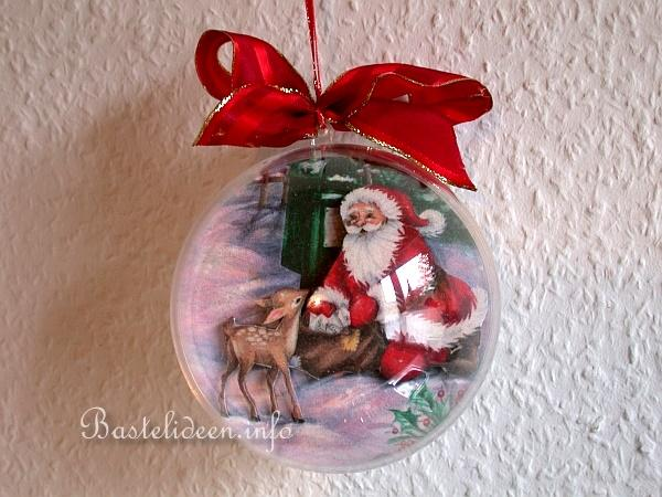 Basteln f r weihnachten serviettentechnik baumschmuck - Basteln mit styroporkugeln weihnachten ...