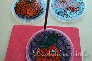 Basteln zum herbst mit kindern upcycling bastelidee - Fensterbilder anleitung ...