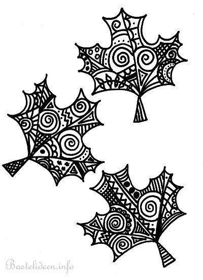 Ausmalbilder Herbst Kürbis: Herbstblätter Malvorlage/ Ausmalbild Für Erwachsene