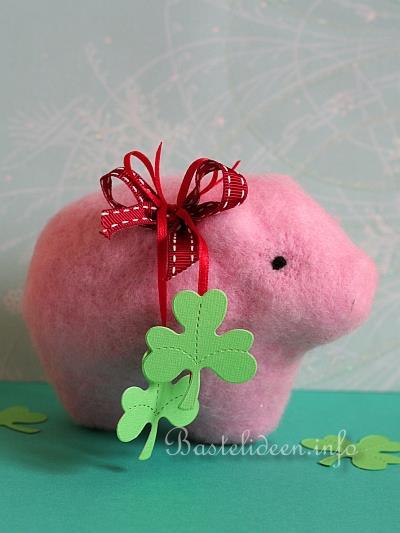 Basteln Silvester basteln für silvester nadelgefilztes glücksschwein