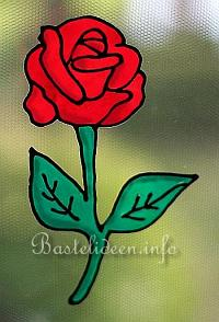 Basteln - Bastelideen - Window Color - Rose