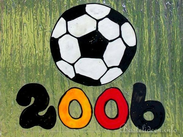 Windowcolor Fussball Motiv Basteln Wm 2006