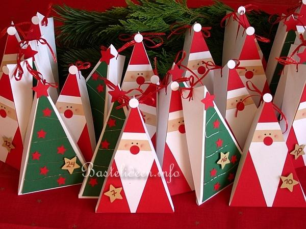 Basteln fuer advent lustiger adventskalender basteln - Weihnachtsbaum basteln papier ...