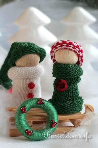 Weihnachtsbasteln Winterliche Dekoration