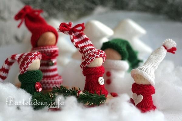 Weihnachtsbasteln winterliche dekoration - Holz basteln weihnachten ...