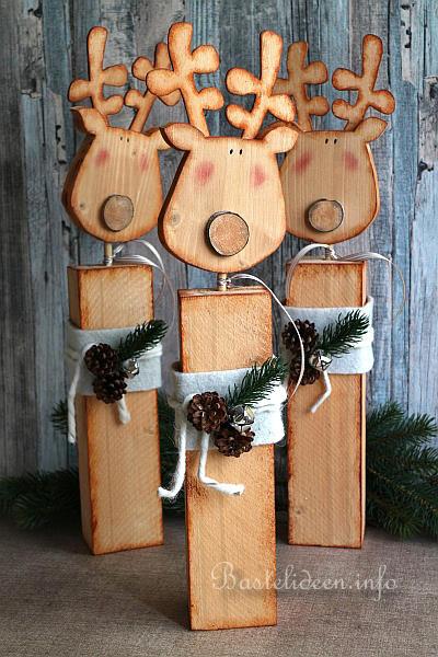 Basteln Für Weihnachten Rentiere Aus Holz