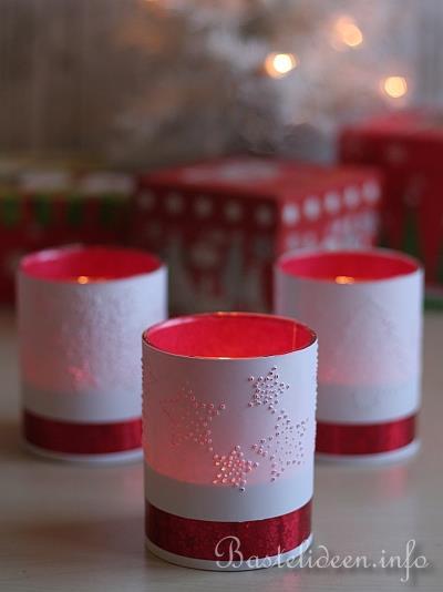 basteln mit papier f r weihnachten teelichtgl ser mit. Black Bedroom Furniture Sets. Home Design Ideas