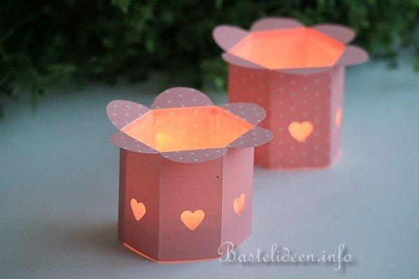 Romantischen Teelichthalter Aus Papier Basteln