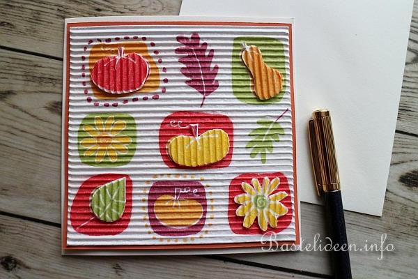 Grusskarten Für Den Herbst Basteln Grusskarte Mit