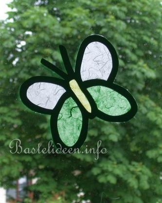 Basteln Mit Kindern Sommer Papierbasteln Schmetterling Fensterbild