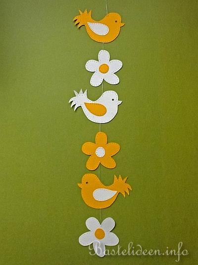 Basteln mit kindern sommer fensterbild vogel und blume - Bastelvorlagen fensterbilder ...