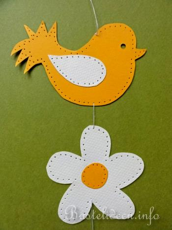 basteln mit kindern - sommer - fensterbild - vogel und blume, Garten und erstellen