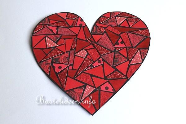 Bastelidee f r kinder papier mosaik herz for Mosaik vorlagen zum ausdrucken