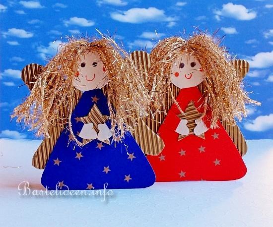basteln mit kindern weihnachten weihnachtsbasteleien fensterbild engel. Black Bedroom Furniture Sets. Home Design Ideas