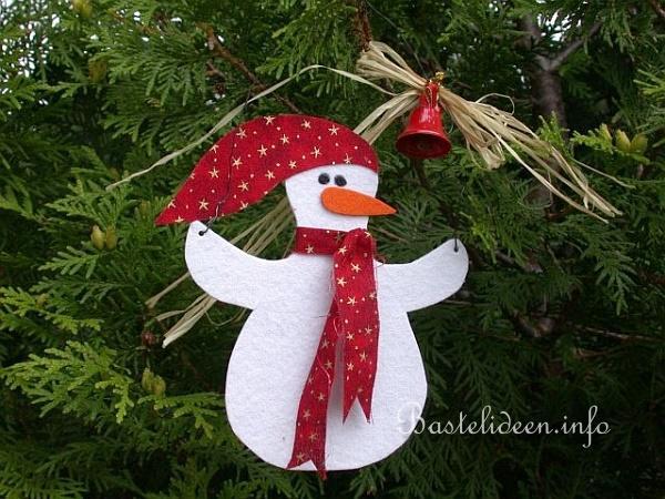 basteln mit kindern weihnachten weihnachtsbasteleien schneemann aus filz. Black Bedroom Furniture Sets. Home Design Ideas