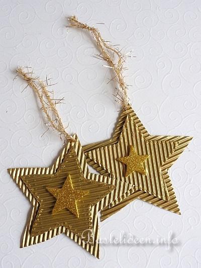 basteln mit kindern weihnachten weihnachtsbasteleien baumanhaenger goldstern. Black Bedroom Furniture Sets. Home Design Ideas