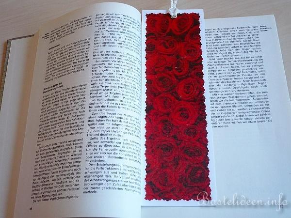 basteln mit papier  sommer  romantisches lesezeichen