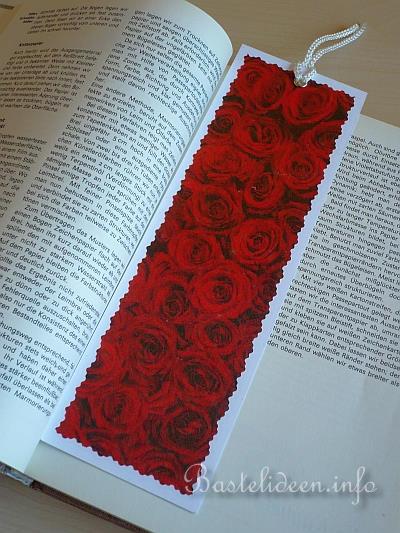 basteln mit papier sommer romantisches lesezeichen. Black Bedroom Furniture Sets. Home Design Ideas