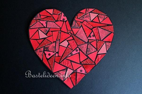 Bastelidee Für Kinder Papier Mosaik Herz