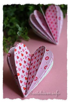 Perfekt Basteln Mit Papier   Valentinstag Bastelidee   3 D Papier Herz