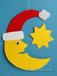 kostenlose bastelvorlage weihnachten fensterbild nikolausmond. Black Bedroom Furniture Sets. Home Design Ideas