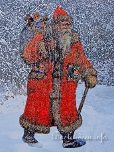 Weihnachtsbasteleien serviettentechnik nikolaus - Weihnachts fensterbilder basteln ...