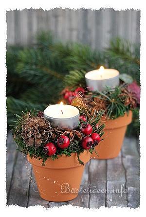 basteln zu weihnachten floristik tischdekoration. Black Bedroom Furniture Sets. Home Design Ideas