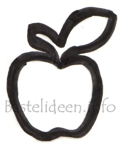 Bastelideen Info Kostenlose Apfel Bastelvorlage