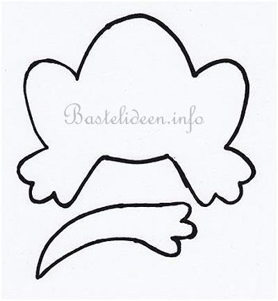 Bastelvorlage - Frosch als Blumentopf-Dekoration