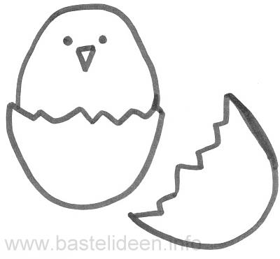 Chick In Egg Craft Template
