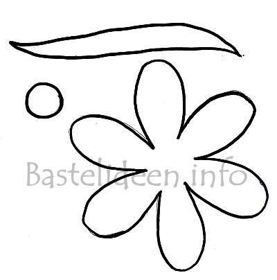 Frühlingsbasteln Blume Bastelvorlage