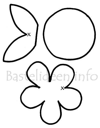 Frühlingsdekoration Blume Bastelvorlage