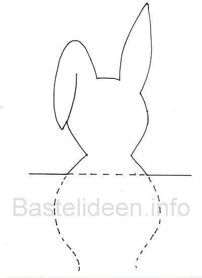 bastelvorlage f r ostern osterhase kopf fensterbild basteln. Black Bedroom Furniture Sets. Home Design Ideas